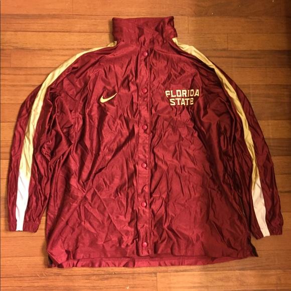 9e5140b144ae Nike Vintage FSU Florida State Jacket Burgundy Red